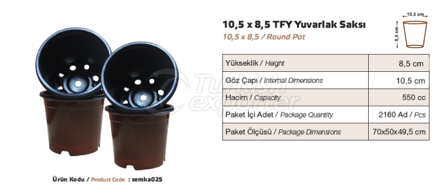 Pot rond de 10,5x8,5