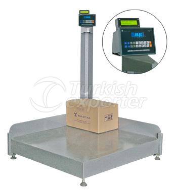 Medição de volume e pesagem