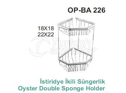 Oyster Double Sponge Holder OP-BA 226