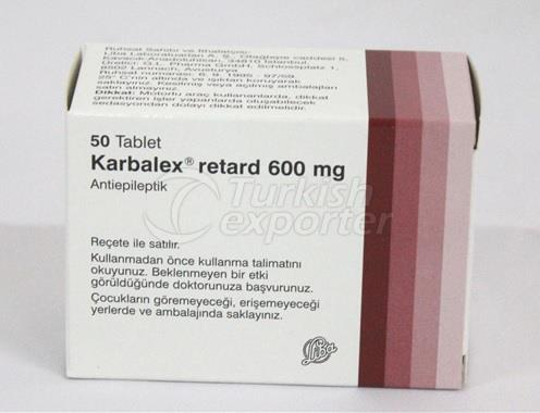 KARBALEX RETARD 300 MG 50 TABLETS