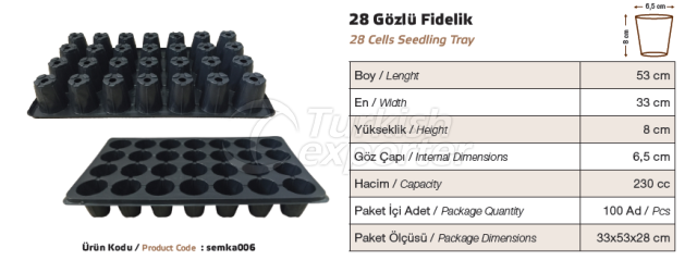 24 cellules d'ensemencement