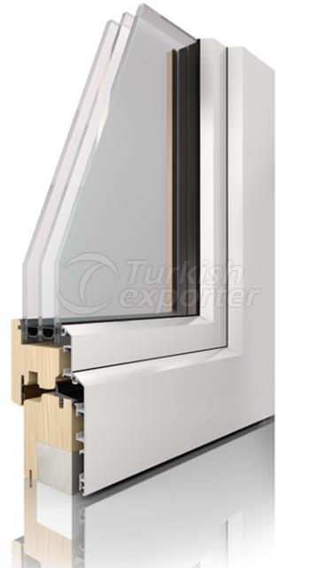 Wooden Aluminum Window and Door Systems -Comfort