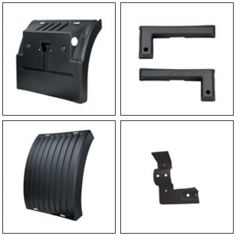 CARGO TOP-BACK MUDGUARD R-L, CARGO STOP L COVER  R-L, CARGO MUDGUARD CLAMP FRONT-BACK R-L,