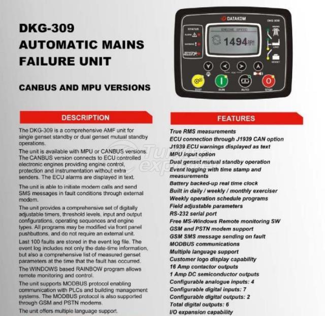 Automatic Mains Failure Unit - DKG-309