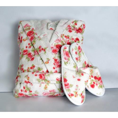 Cotton Bathrobe and Slipper - 03003