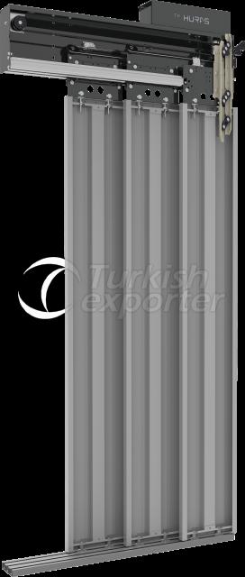 Telescopic 3 Panel Cabin Door
