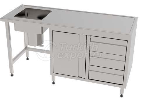 PLASTER PREPARATION TABLE WITH SINK