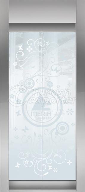 Framed Glass Door Bahar