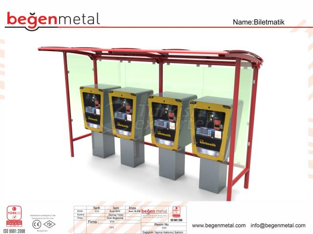 Ticket bus stop shelter