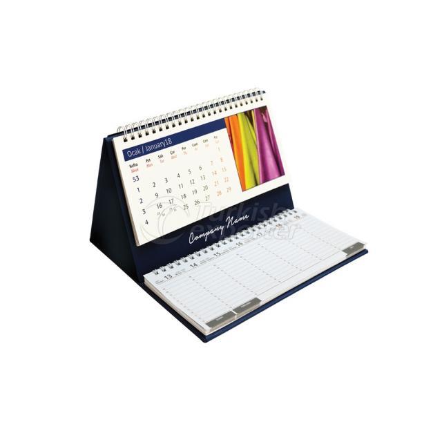 Desk Calendar With Accessory (124-A)