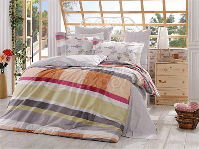 Alanza Grey -Poplin Single Bed Linen Set (98017400231)