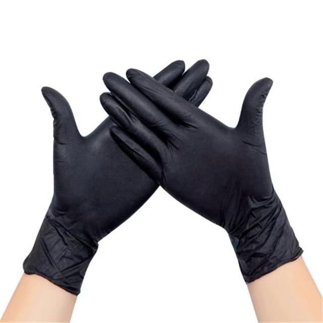 Luvas de nitrilo pretas