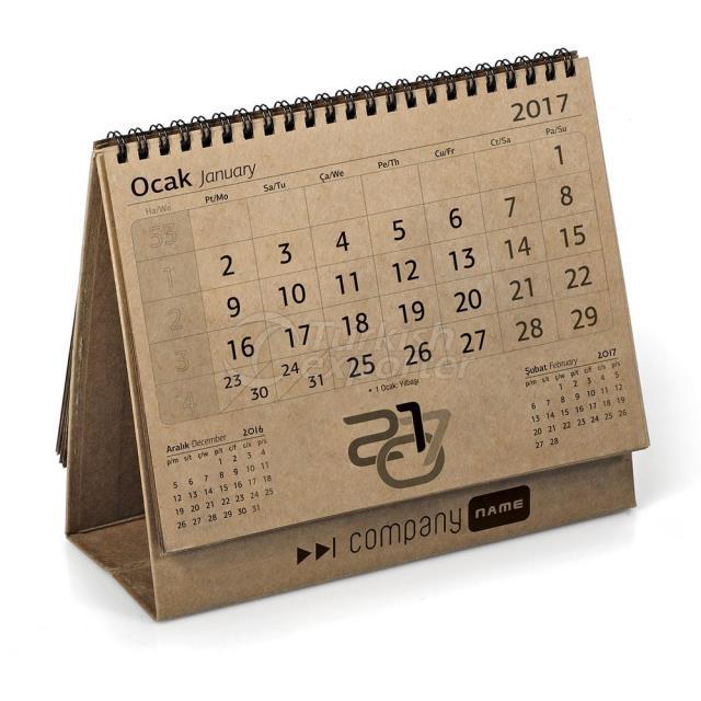 Kraft Triangle Desk Calendar (123-K)