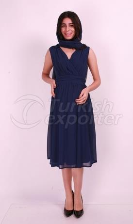 Breasted Pleated Evening Dress