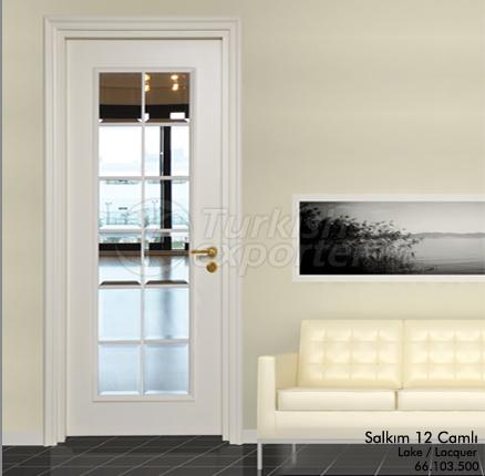 Wooden Door Salkim 12-Glass