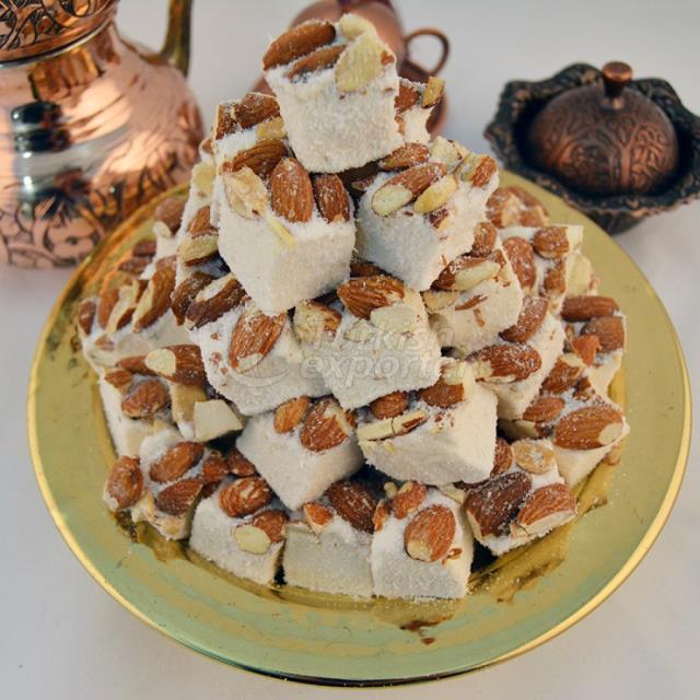 Coconut Walnut Turkish Delight