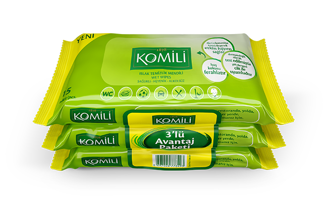 Komili Wet Wipes for General Usage