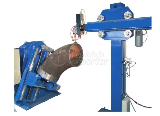 Máquinas de corte de codo y soldadura