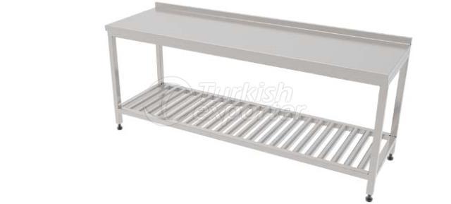 CLEAN ROOM TABLE W/GRID BOTTOMSHELF