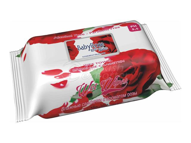 BABY ROSE FLOWER SERİES 4 WET WİPES
