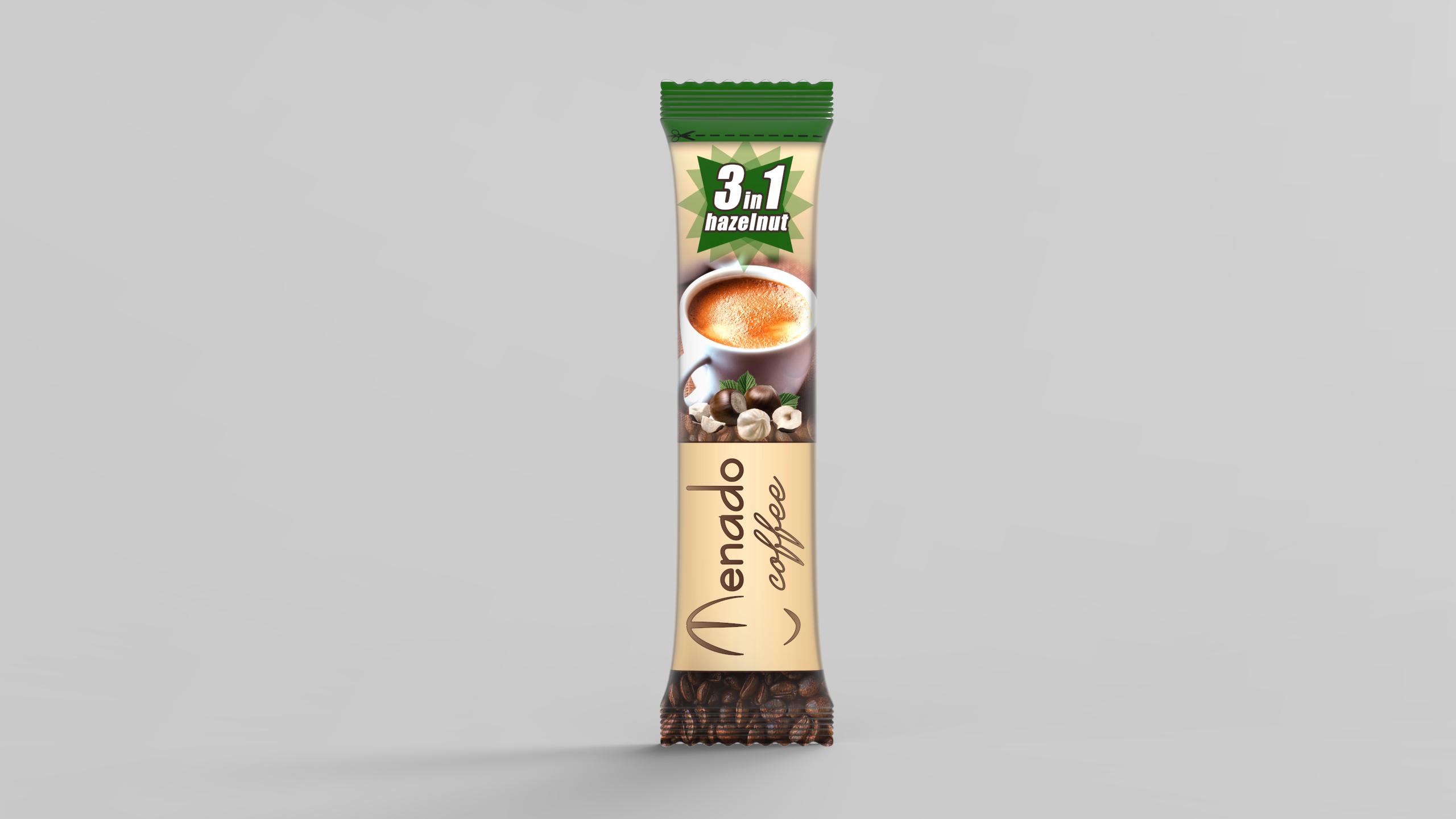 Menado – 3in1 Instant Coffee With Hazelnut - 18gr.