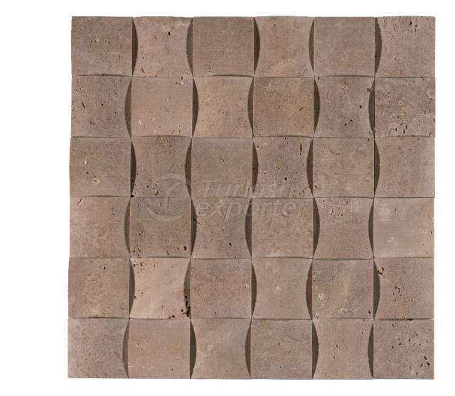 4,8x4,8 Noce Braid Mosaic