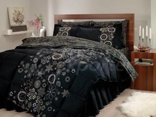 Saten Uyku Seti Efsun Siyah Uyku