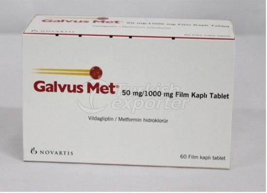 GALVUS MET 50MG/1000MG 60 TABLETS