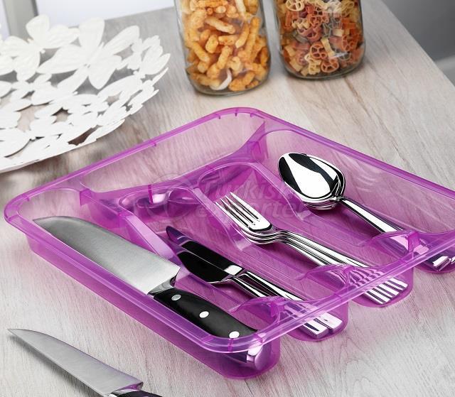 Cajón de cuchara de plástico transparente
