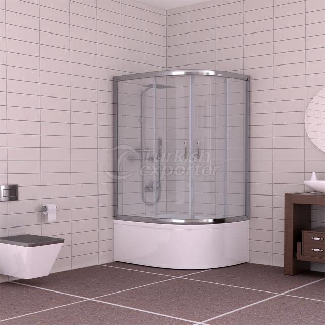 Oval Shower Cabin Gold Sapphire