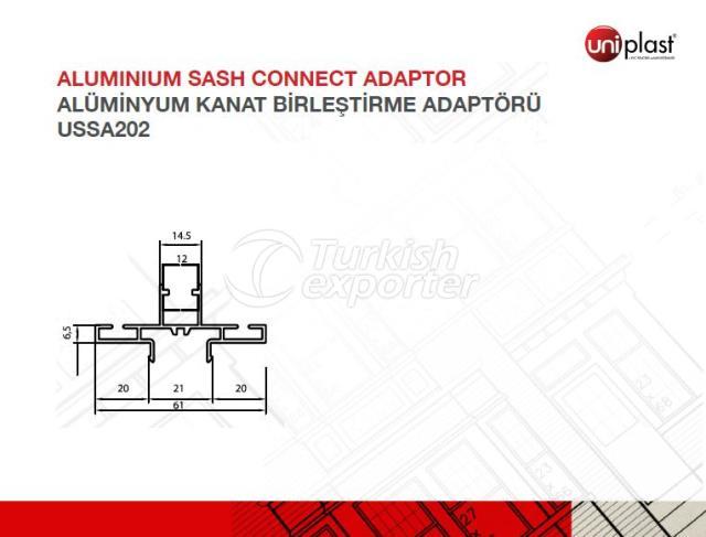 Adaptador de conexión de marco de aluminio