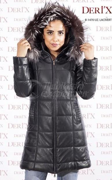 Black Leather Jacket  B-1470