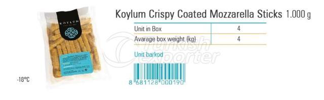 Koylum Crispy Coated Mozzarella Sticks 1000g