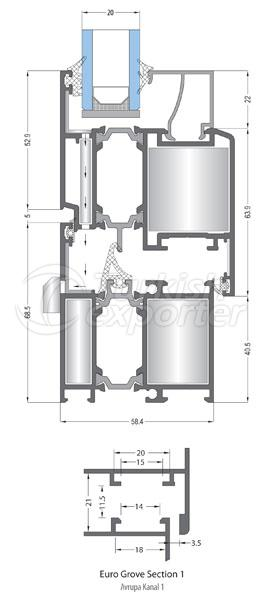 Ventanas de aluminio 58T Windows