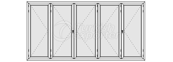Beş Kanatlı Katlanır Kapı Profilleri