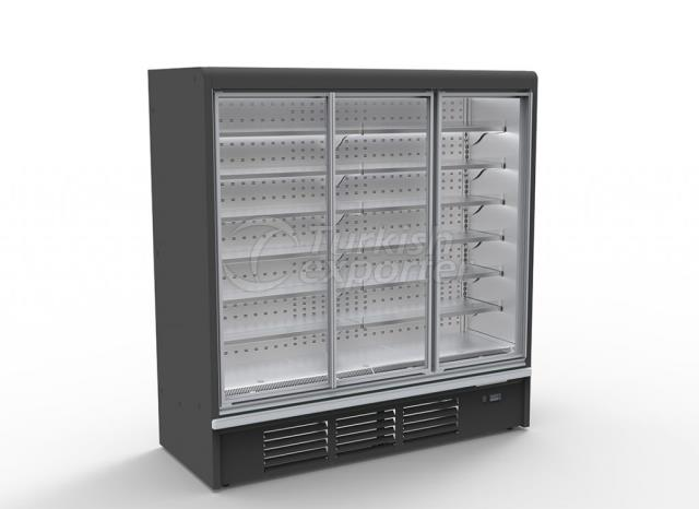 Plug-in Refrigerated Multideck Cabinet Double Glass Door PUMA DGD