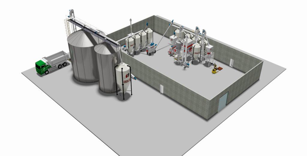 Feed milling machine