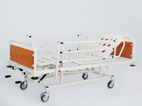 Lit d'hôpital avec 2 manivelles