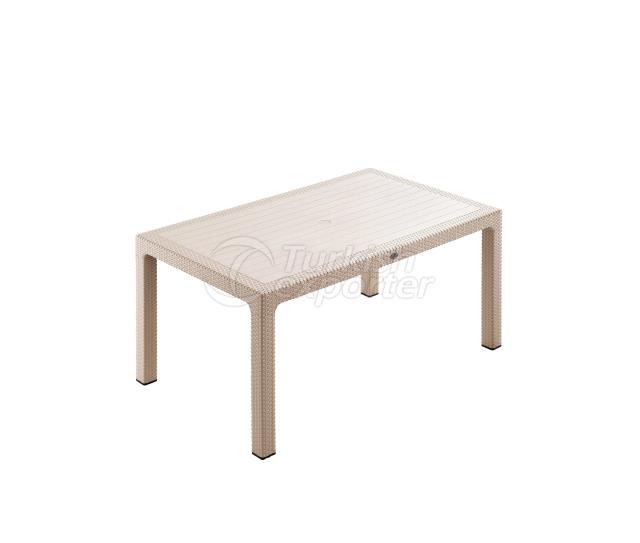 Classi Rattan 90x150 Table Cappucino
