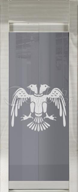 Porta de vidro emoldurada Selçuklu