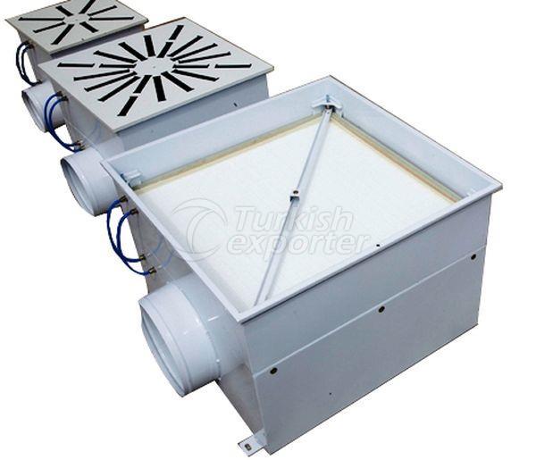 Caixas de filtro HEPA