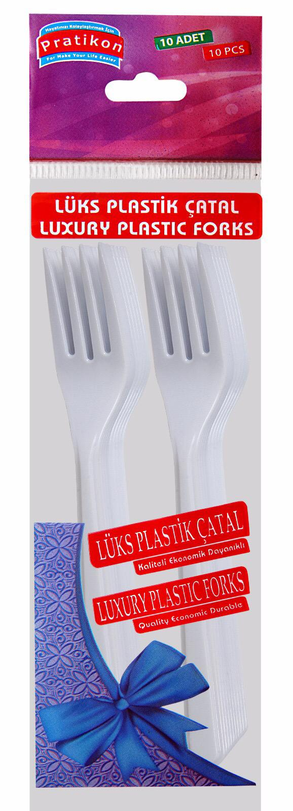 lux plastic forks