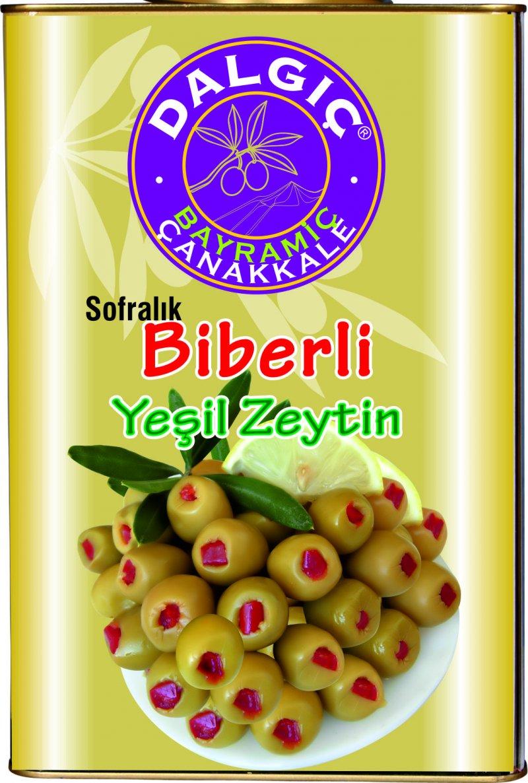 Pepper Green Olives