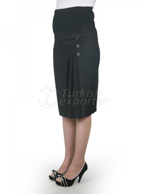 Maternity Clothes Three-Button Mini Skirt