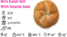 Mini Kaiser Roll With Sesame Seed