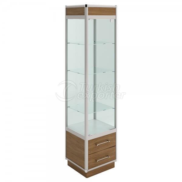 KLR-603 Aluminium Glass Showcase