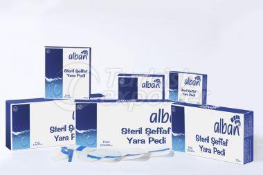 Tampon de plaie transparent stérilisé