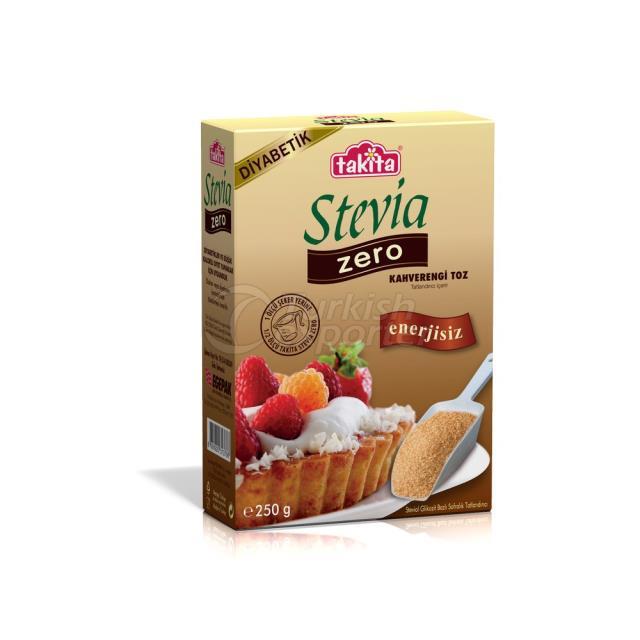 Stevia Zero Brown Endulzante En Polvo