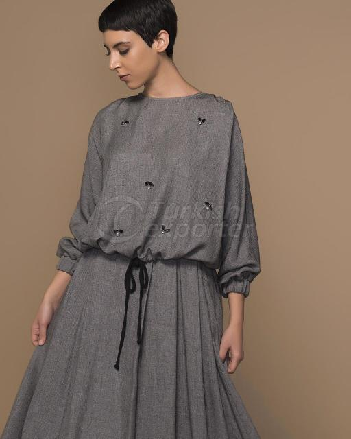 detailed blouse with stone