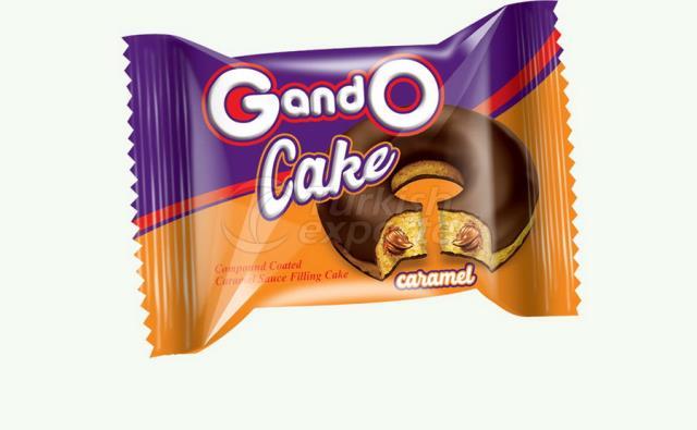 Karamel Soslu Kakao Kaplamalı Donut Kek